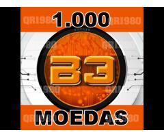 1.000 moeda B3coin coin entrega rápida (igual bitcoin litecoin dogecoin iota ripple ethereum)