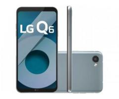 Smartphone LG Q6 32GB Platinum Dual Chip 4G - Câm. 13MP + Selfie 5MP Tela 5,5