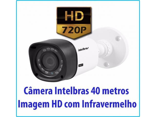 Câmera de Segurança Intelbras 40 metros Imagem HD com Infravermelho
