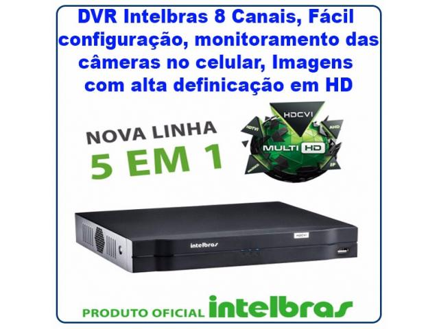 DVR INTELBRAS 8 CANAIS MULTI HD - MHDX 1008 - CFTV