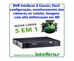 DVR INTELBRAS 8 CANAIS MULTI HD - MHDX 1008 - CFTV