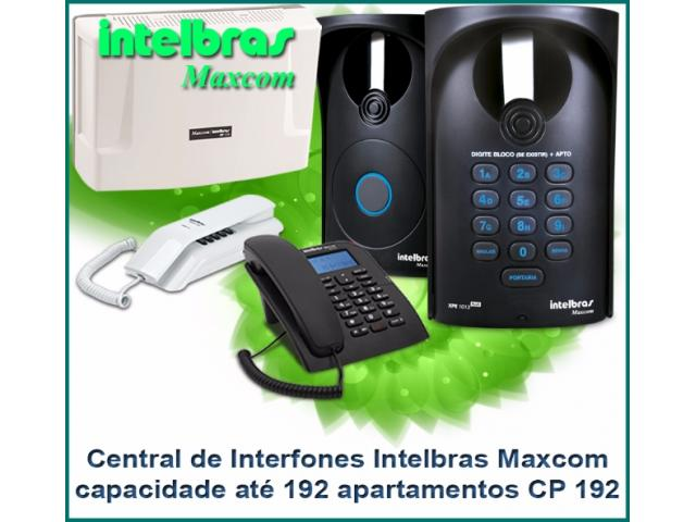 Central Portaria CP 192 - Maxcom Intelbras 192 ramais