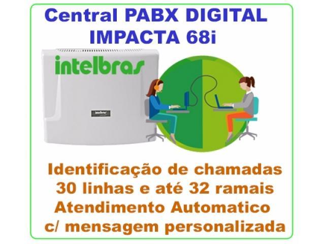 PABX Intelbras Impacta 68 Capacidade até 30 linhas