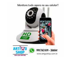 Camera Seguranca Sem Fio Ip 1.3 Mp Hd 720 Antena Dupla