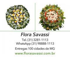 Cemitério Jardim da Saudade em Raposos, Coroas de flores velorio Jardim da Saudade, floricultura