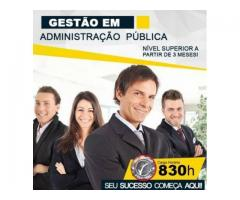 Curso Superior em Gestão de Administração Pública