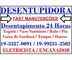 Desentupidora na Vila Anhangüera em Campinas 19-992312502
