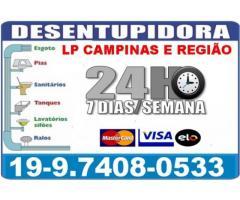 Desentupidora na Vila Proost de Souza em Campinas 19974080533 Desentupidora LP