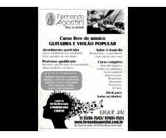 Prof. de Violão (11) 3596.7543 - Jardins/SP